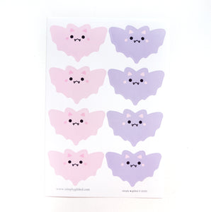 SEALS/LABELS - PINK & Purple BATS + glossy black