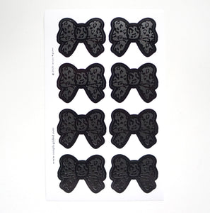 SEALS/LABELS - BOW seals - black on black leopard