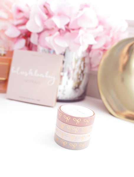 BOX SET - 10mm bow - BLUSHBABY + rose gold foil (January 10 Release)