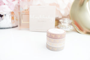 BOX SET - 10mm bow - BLUSHBABY + rose gold - 1st edition (Mystery Monday)