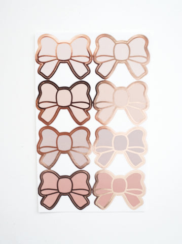 BOW SEALS LABELS - BLUSHBABY BOWS + rose gold foil (January 10 Release)