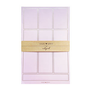 PAPER PAD - Blush Pink + light gold foil