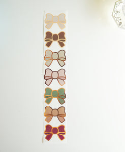 Bow labels- NEUTRAL - rose gold foil bow seals