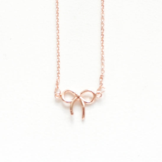 NECKLACE - simply gilded official bow necklace (YOU PICK)