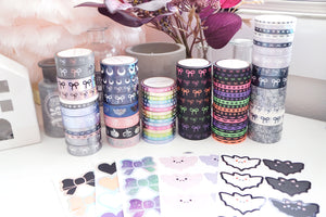 BUNDLE - ALL Halloween RELEASE (washi and seals) - Restock