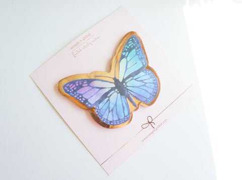 Butterfly STICKY NOTES - rose gold foil