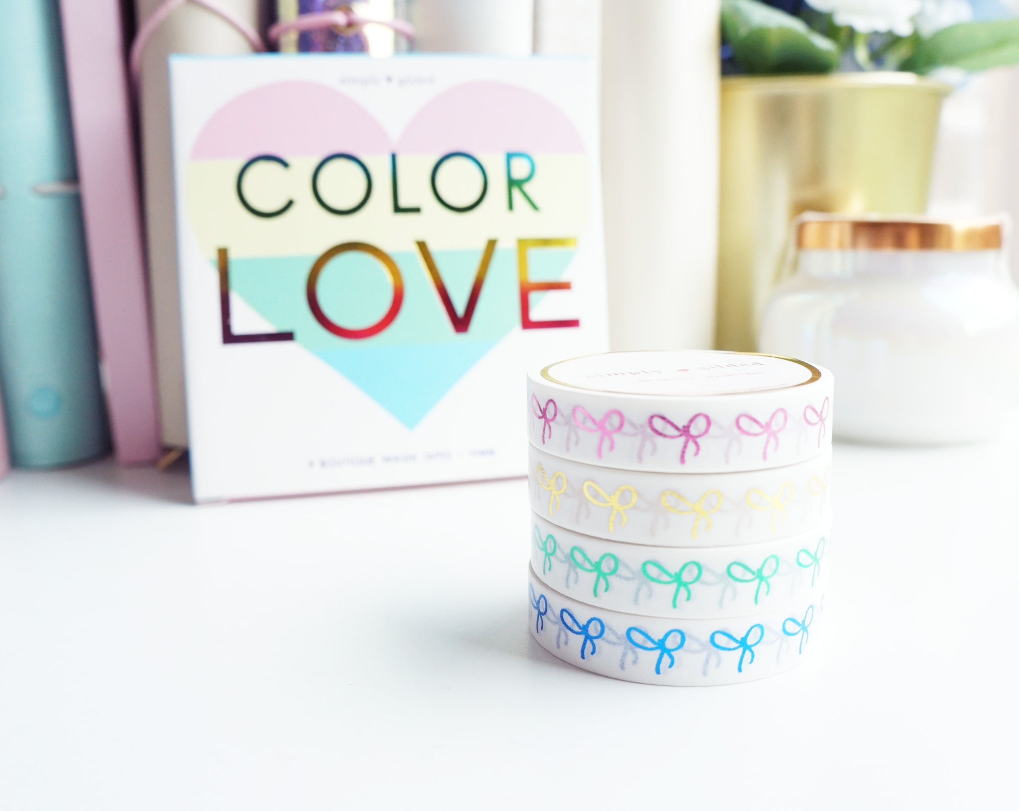 BOX SET COLOR LOVE 10mm (set of 4 washi tapes)  - (August 2 release)