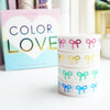 BOX SET COLOR LOVE 15mm (set of 4 washi tapes)
