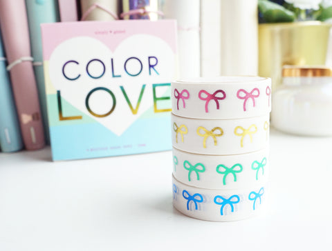 BOX SET COLOR LOVE 15mm (set of 4 washi tapes) - (August 2 release)