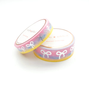 WASHI 15mm/10mm BOW set - CANDY RUSH tie-dye variation + silver (Restock)