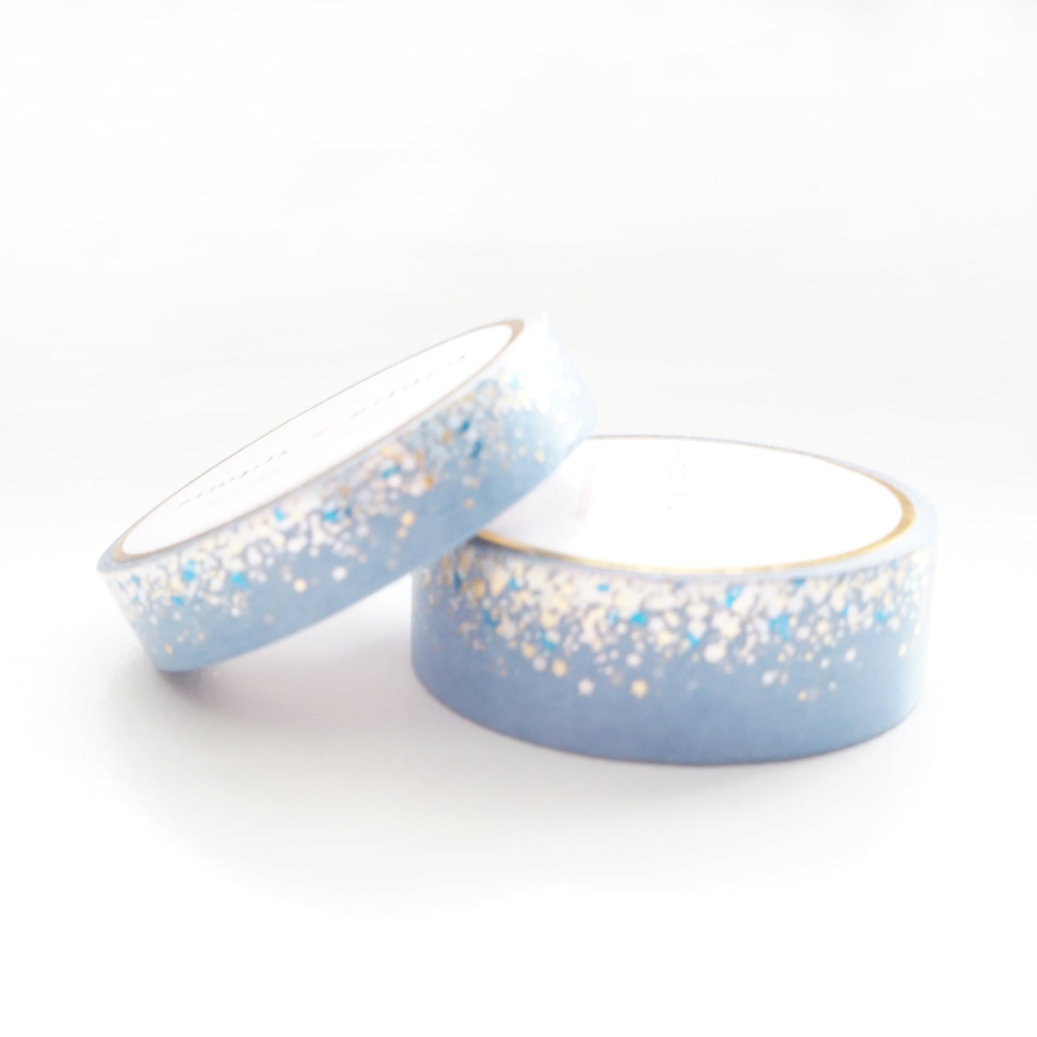WASHI TAPE 15/10mm set - CANDY Stardust BLUE + silver holographic/lt. gold/blue (May Release, Presale) LIMIT of 2