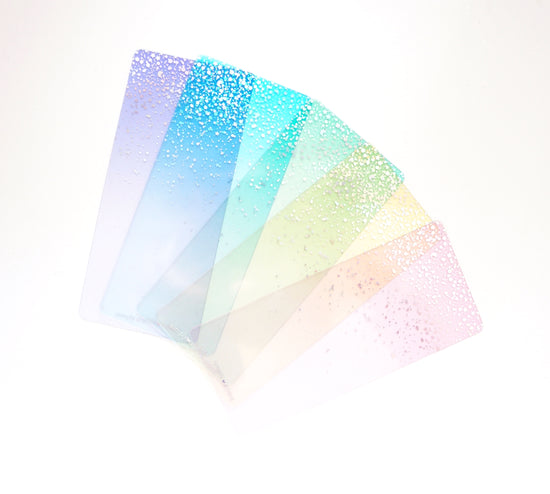 WASHI CARDS set of 5 - SWEET CELEBRATION washi cards + silver holographic foil (Sweet Celebration)