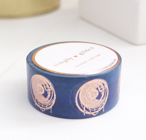 WASHI TAPE 20mm CELESTIAL MOONS + rose gold foil (October 2019 Release)
