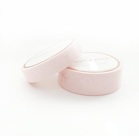 WASHI TAPE 15/10mm BOW set - Chic PINK + pearl pink (May Release)