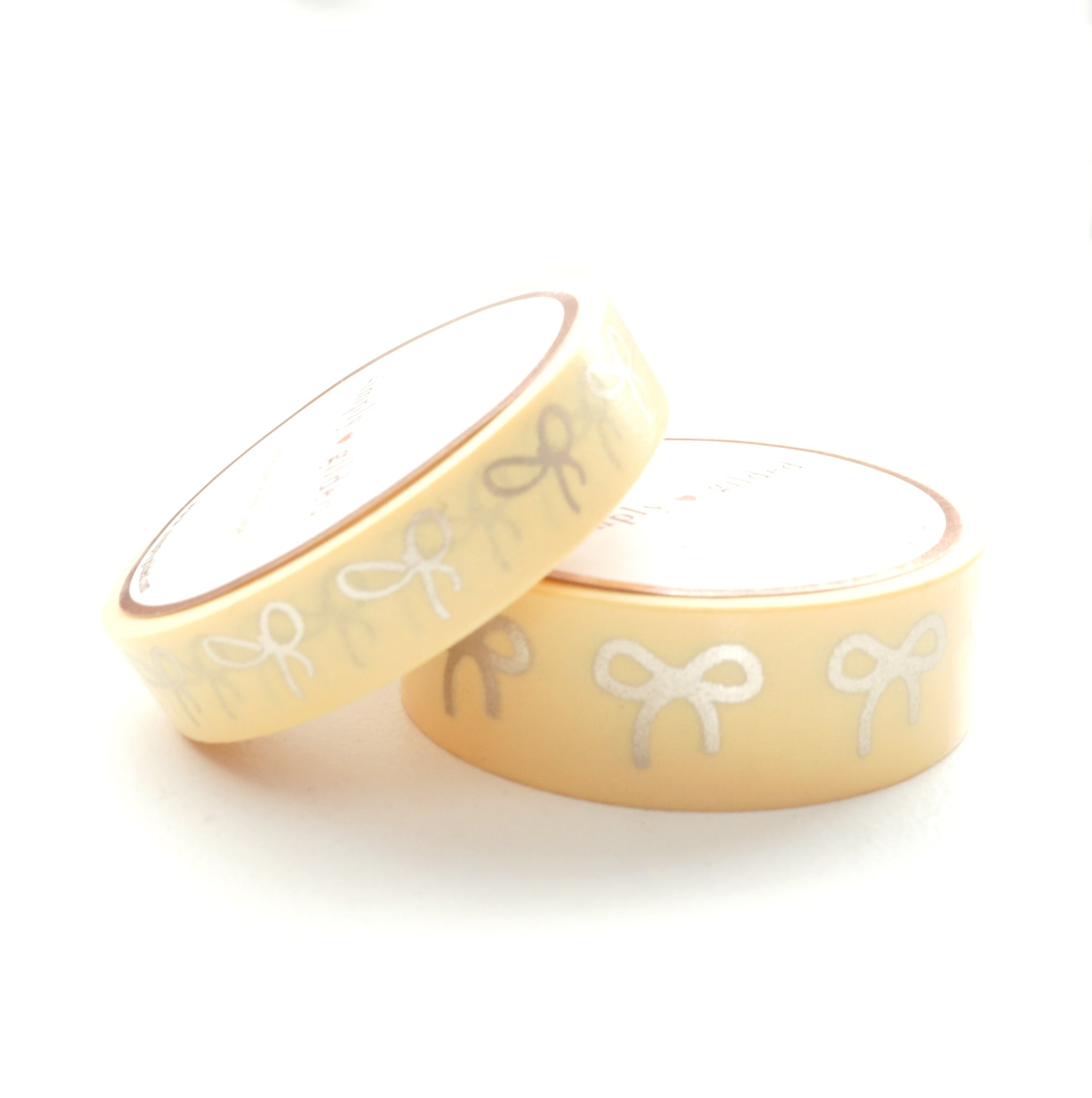 WASHI TAPE 15/10mm BOW set - Chic YELLOW + matte gold (May Release)