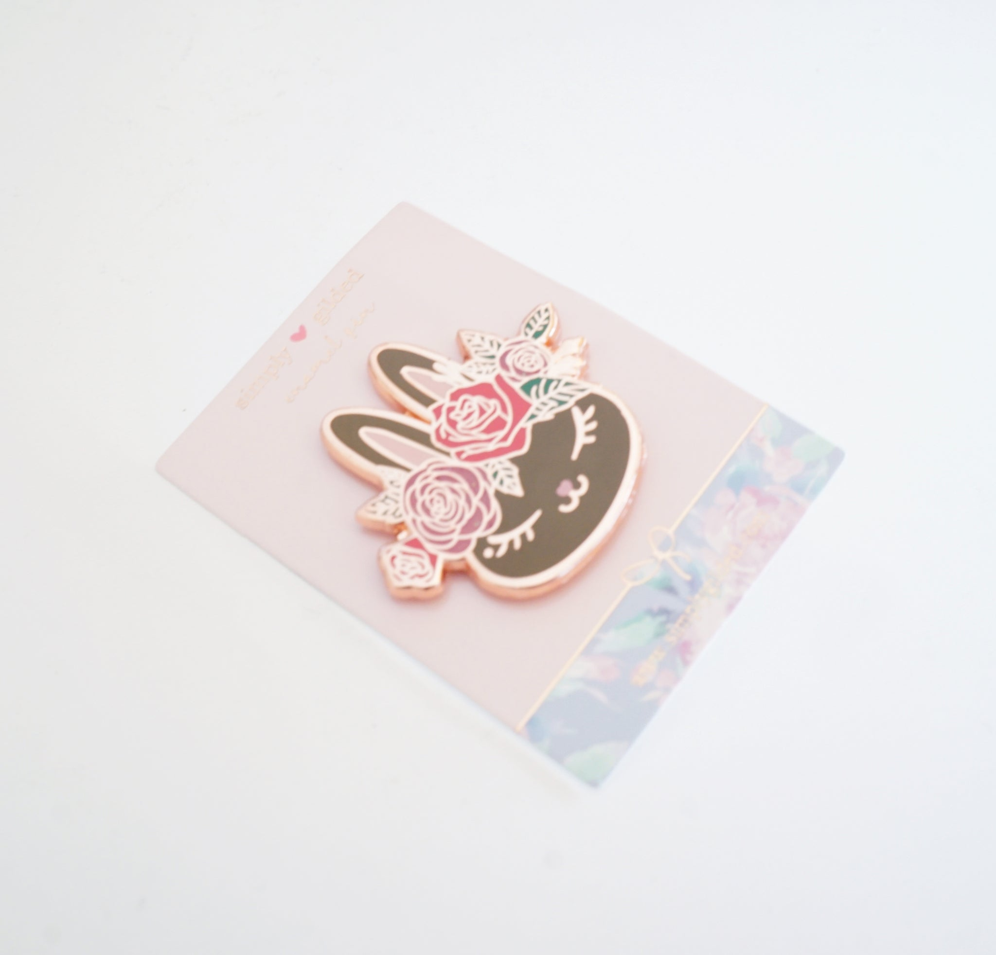 PIN - CHOCOLATE floral crown JUNIPER BUNNY +  rose gold (Mystery Monday)
