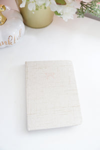NOTEBOOK - Clarity HARDBOUND notebook + rose gold (Mystery Monday)