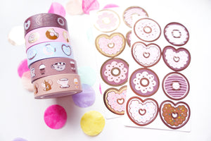 BUNDLE - Coffee and Donuts (5 washi, 2 seals) - LIMIT 2