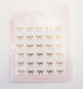 GOLD simply gilded bow NAIL stickers/decals (gold)