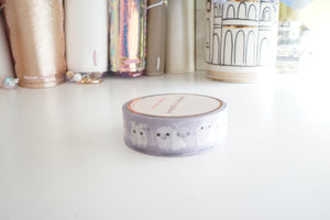 WASHI TAPE 15mm - FRIENDLY GHOSTS 2.0 + holographic foil washi tape (Mystery Monday)