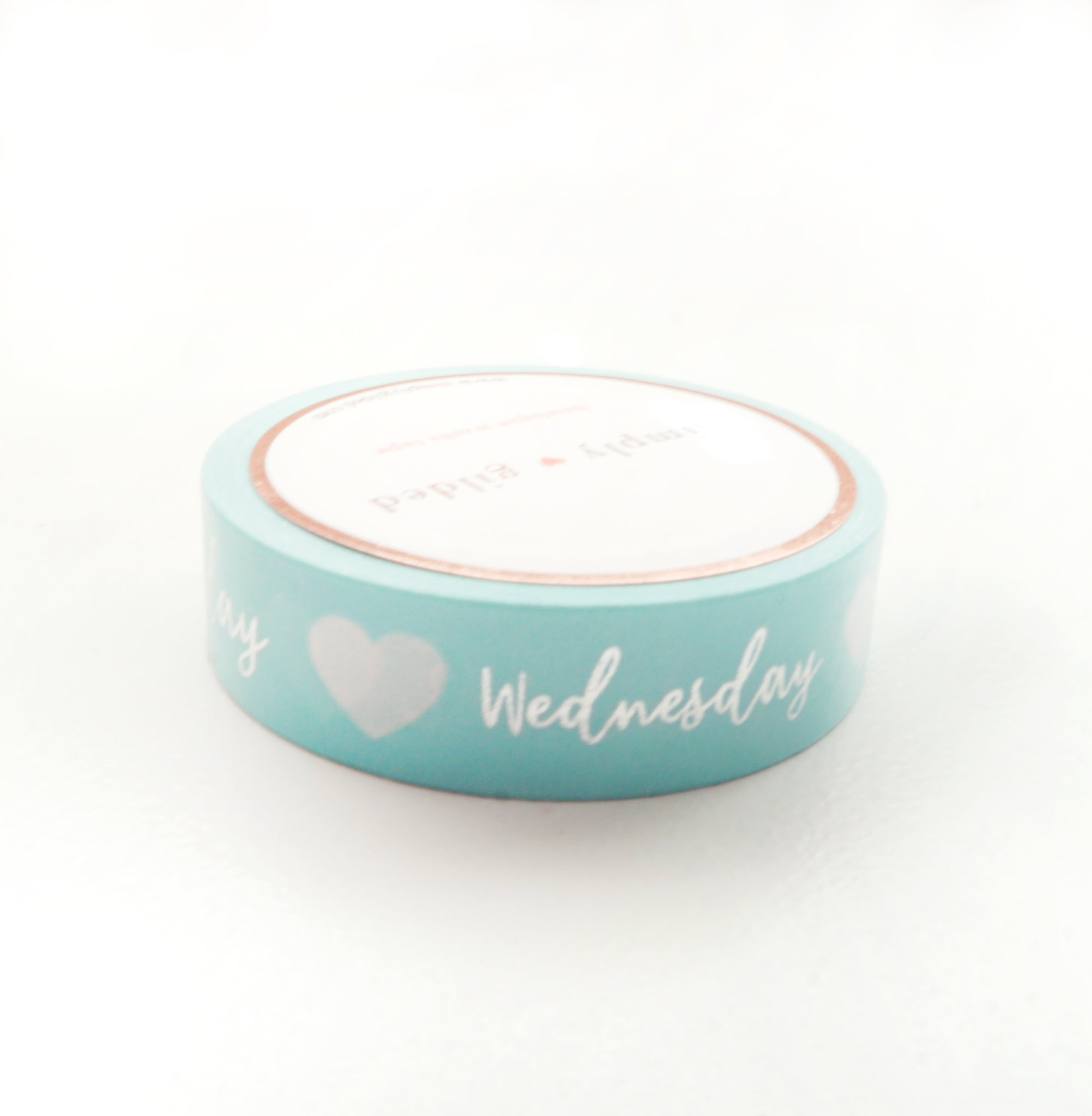 PERFORATED WASHI TAPE 13mm - Days of the Week ROBIN'S EGG BLUE + silver (May Release)