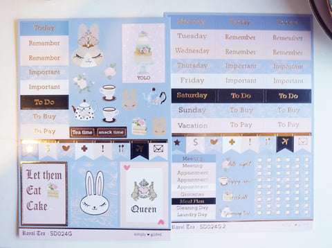 LUXE STICKER SHEET - Royal Tea + gold (Mystery Monday)