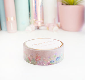 WASHI 15mm - DESERT DANCE FLORAL FLOOR + rose gold (Mystery Monday)