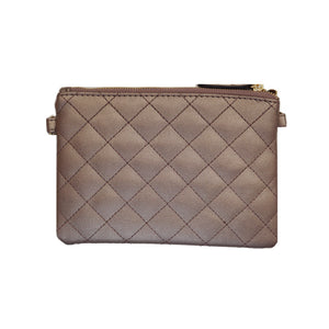POUCH - DIVINE Diamond quilted vegan leather