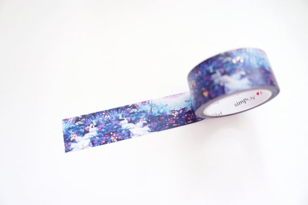 WASHI TAPE 20mm - ENCHANTED FOREST + ROSE gold foil (Black Friday 19 Release) OOPS