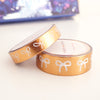 WASHI 15/10mm bow set  - Enchanted Forest INVERTED ROSE GOLD + white bows (Mystery Monday)