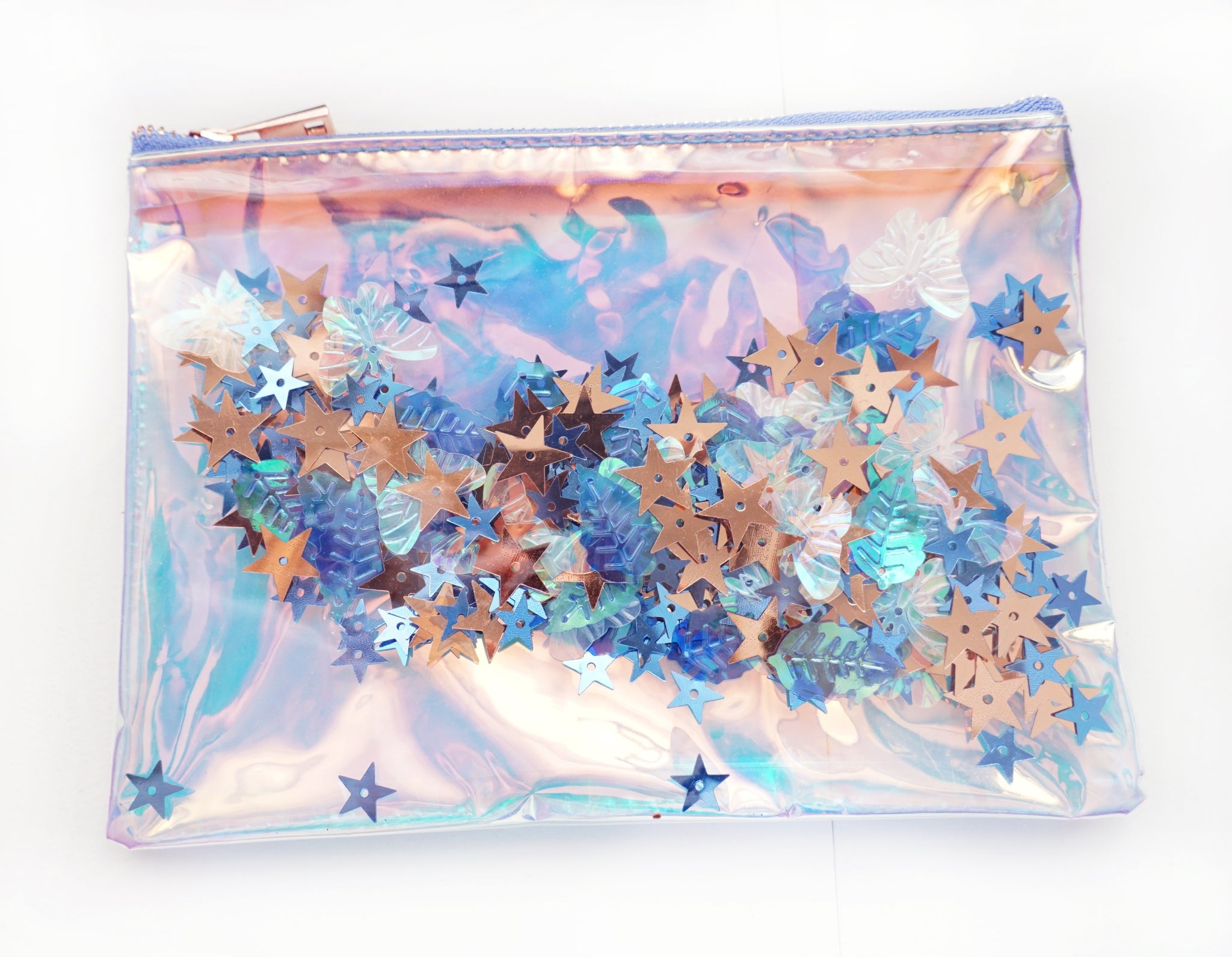 POUCH ONLY - ENCHANTED FOREST shaker pouch + rose gold hardware (Mystery Monday)