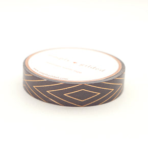 FANCY FETE - WASHI 10mm Brown Diamond + rose gold