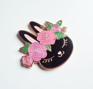 MAGNET - Dark Chocolate Juniper with FLORAL CROWN + rose gold hardware