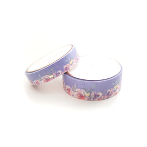 WASHI 15/10mm set - Floral Floor PURPLE + Lt. Gold - OOPS