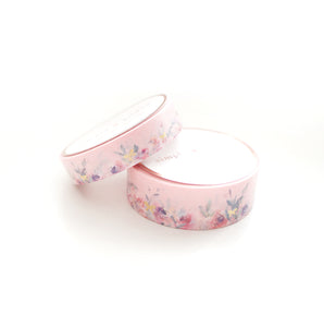 WASHI 15/10mm set - Floral Floor PINK + Lt. Gold - OOPS
