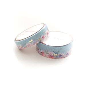 WASHI 15/10mm set - Floral Floor SAGE + Lt. Gold - OOPS