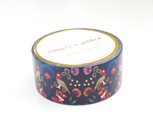 WASHI 20mm - FOLKTALE BIRD PRINT + gold foil (Folktale)