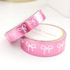 WASHI 15/10mm BOW set  - FOLKTALE PINK FOIL + white bow (Mystery Thursday)