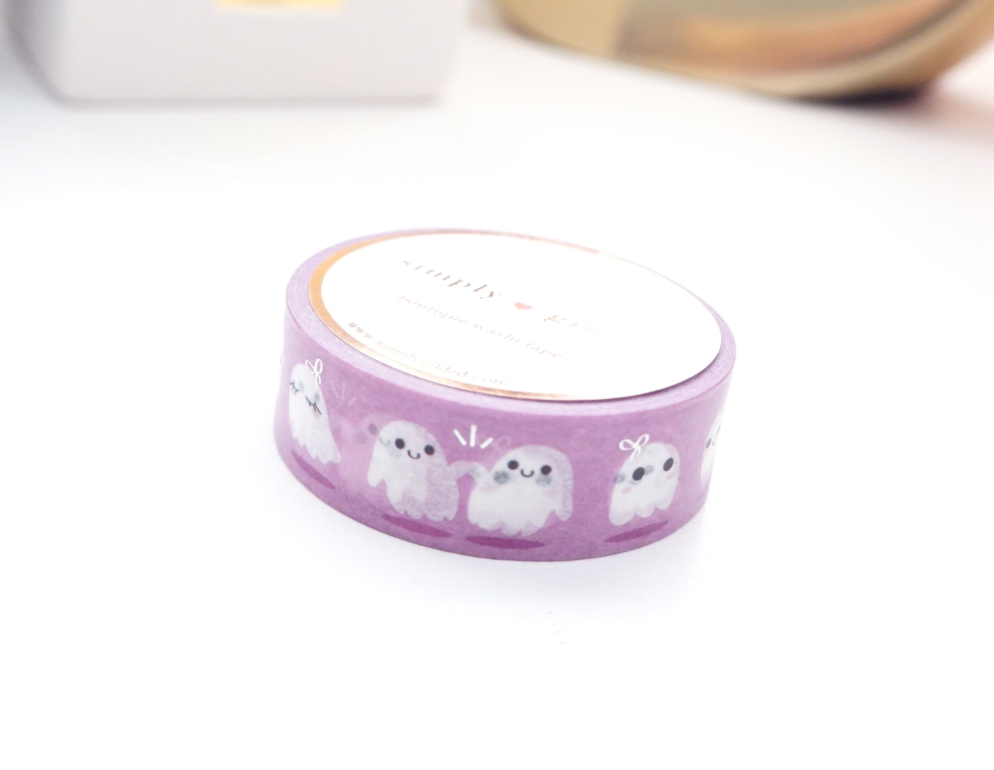 WASHI TAPE 15mm - GHOST FRIENDS 3.0 LILAC + holographic foil (September 20 Release)