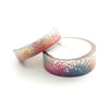 WASHI TAPE 15/10mm set - Funky & Fresh STARDUST + silver holo/lt. gold REMAKE