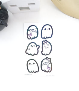 LABEL/SEALS set - GHOST FRIENDS + IRIDESCENT shimmer foil