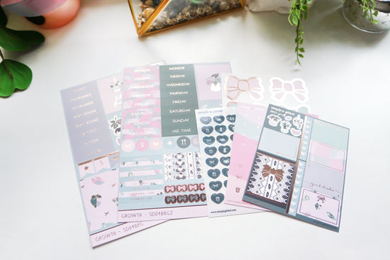 LUXE STICKER KIT - GROWTH + rose gold foil