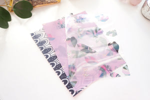 VELLUM/ACETATE set of 3 - GROWTH  + rose gold foil