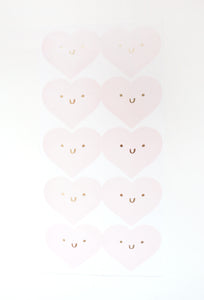 SEALS LABELS - HAPPY HEART Pink seals