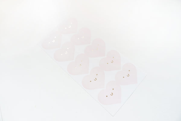 SEALS LABELS - HAPPY HEART Pink seals (January 10 Release)