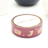 WASHI 15mm - Happy Mail OWL 3.0 + gold/pink foil (Mystery Monday)