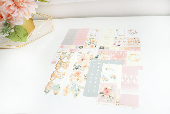 LUXE STICKER set - HELLO DAHLIANG luxe sticker kit + lt. gold (Hello Dahliang)