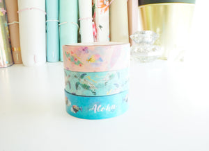 WASHI TAPE 15mm set - I LOVE HAWAII set of 3 (Mystery Monday)