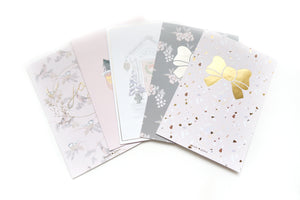 BUNDLE - HAPPY HOLIDAYS JOURNALING CARDS  (set of 5 cards) - LIMIT 1