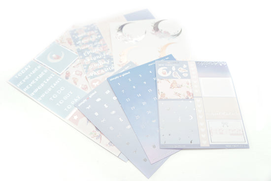 LUXE STICKER set - Lullaby Moon luxe sticker kit + silver (LULLABY MOON)
